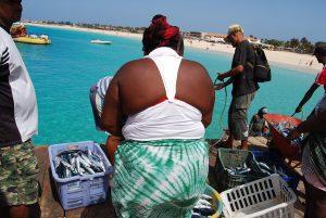 Cabo Verde, pontão no Sal